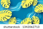 illustration of natural pond... | Shutterstock .eps vector #1342062713