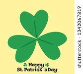 clover icon   vector | Shutterstock .eps vector #1342067819