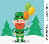 leprechaun with clover for good ... | Shutterstock .eps vector #1342067840