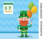 leprechaun with clover for good ... | Shutterstock .eps vector #1342067843
