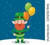 leprechaun with clover for good ... | Shutterstock .eps vector #1342067846