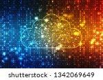 2d illustration cloud computing ... | Shutterstock . vector #1342069649