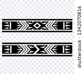 aztec band tattoo  tattoo arm... | Shutterstock .eps vector #1342070816