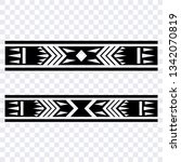 polynesian arm band tattoo ... | Shutterstock .eps vector #1342070819