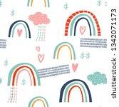 baby seamless vector pattern....   Shutterstock .eps vector #1342071173
