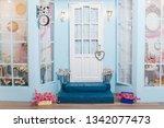 Spring Photo Zone. White Door....