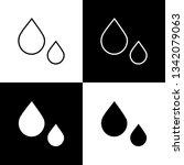 flat monochrome drops symbol...