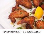 chicken wings. delicious spicy... | Shutterstock . vector #1342086350