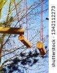 adrenaline park  climbing       ...   Shutterstock . vector #1342112273
