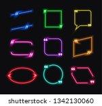set of neon glowing talk... | Shutterstock . vector #1342130060