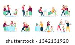 three generations women family... | Shutterstock .eps vector #1342131920