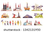 industrial buildings cartoon... | Shutterstock .eps vector #1342131950