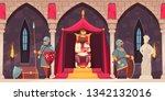 medieval castle interior flat... | Shutterstock .eps vector #1342132016