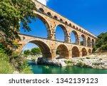 Nimes  France. Ancient Aqueduc...