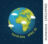 earth day design background.... | Shutterstock .eps vector #1342149503