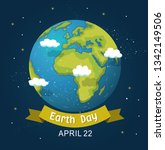earth day design background.... | Shutterstock .eps vector #1342149506