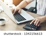 business accountant is... | Shutterstock . vector #1342156613
