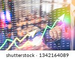 showing the trading graph over... | Shutterstock . vector #1342164089
