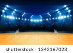 basketball arena field with... | Shutterstock .eps vector #1342167023
