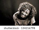 portrait of beautiful black... | Shutterstock . vector #134216798