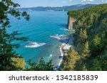 beautiful view on black sea... | Shutterstock . vector #1342185839