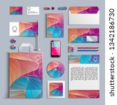 corporate identity template in...   Shutterstock .eps vector #1342186730