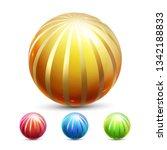 sphere ball vector. orb shining....