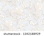 fantasy floral seamless pattern ... | Shutterstock .eps vector #1342188929