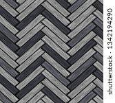 cartoon wood herringbone tiles...