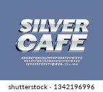 vector logotype silver cafe... | Shutterstock .eps vector #1342196996