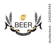 coat of arms for brewery... | Shutterstock .eps vector #1342201943