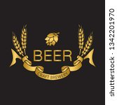 coat of arms for brewery... | Shutterstock .eps vector #1342201970