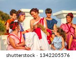women and children of ancient... | Shutterstock . vector #1342205576