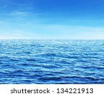 blue sunny sea water surface | Shutterstock . vector #134221913
