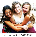 students girls having fun... | Shutterstock . vector #134222366