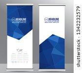 roll up business brochure flyer ... | Shutterstock .eps vector #1342232579