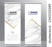roll up business brochure flyer ... | Shutterstock .eps vector #1342233389