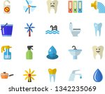 color flat icon set sink flat...   Shutterstock .eps vector #1342235069