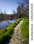 a footpath along the kern river ... | Shutterstock . vector #1342241420