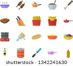 color flat icon set frying pan...   Shutterstock .eps vector #1342241630