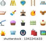 Color Flat Icon Set Ladder Flat ...