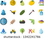 color flat icon set ax flat...   Shutterstock .eps vector #1342241786