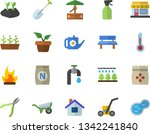 color flat icon set wheelbarrow ...   Shutterstock .eps vector #1342241840
