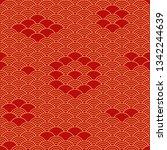 geometric seamless pattern in... | Shutterstock .eps vector #1342244639