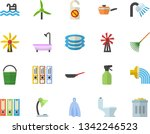color flat icon set toilet flat ...   Shutterstock .eps vector #1342246523