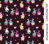 Seamless Pattern. Lovely Funny...
