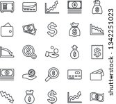 thin line icon set   credit... | Shutterstock .eps vector #1342251023