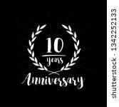 10 years anniversary... | Shutterstock .eps vector #1342252133