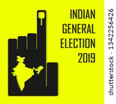 2019 indian general election... | Shutterstock .eps vector #1342256426