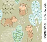 vector illustration with... | Shutterstock .eps vector #1342257956